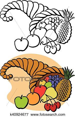 clip art of thanksgiving cornucopia k40924677 search clipart rh fotosearch com cornucopia clipart free clipart cornucopia