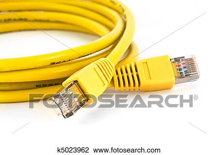 Clip Art of Ethernet cable k5023962 - Search Clipart, Illustration ...