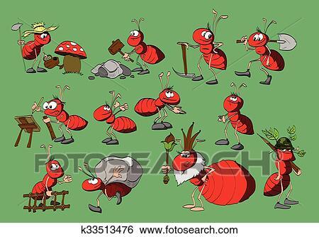 剪贴画 - 卡通漫画, 蚂蚁, 收集图片