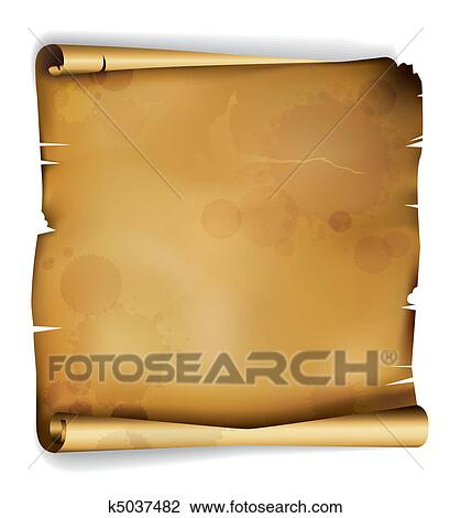 Stock Photo of Brown textured blank paper background k12971664 – Blank Paper Background