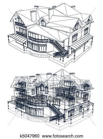 Architectural blueprint artwork worksheet coloring pages clipart of architecture blueprint of a house vector k5047960 architectural blueprint decor architectural blueprint artwork malvernweather Image collections