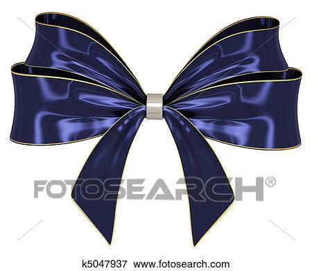 Nastro Blu Blu Dorato Nastro Arco