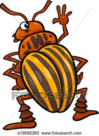 剪贴画 - 土豆, 甲虫, 昆虫, 卡通漫画, 描述图片
