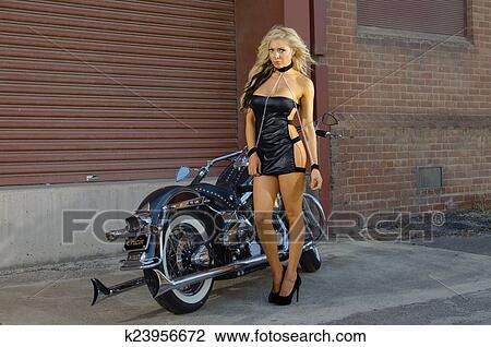 摩托车, 骑自行车的人, 女孩图片