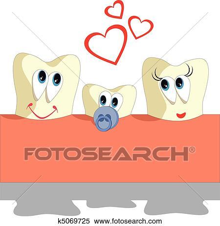 Clipart - diente, caricatura, conjunto, 005 k5069725 - Buscar Clip ...
