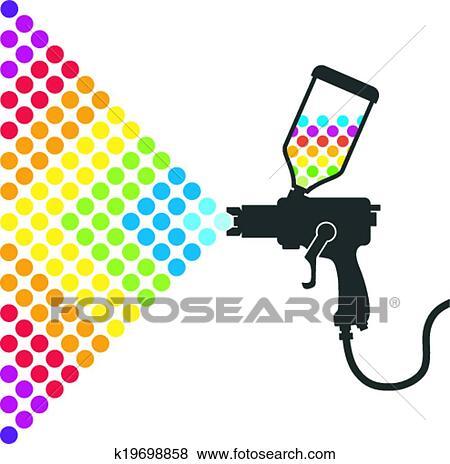 clipart peindre pistolet a peinture k19698858 recherchez des cliparts des illustrations. Black Bedroom Furniture Sets. Home Design Ideas