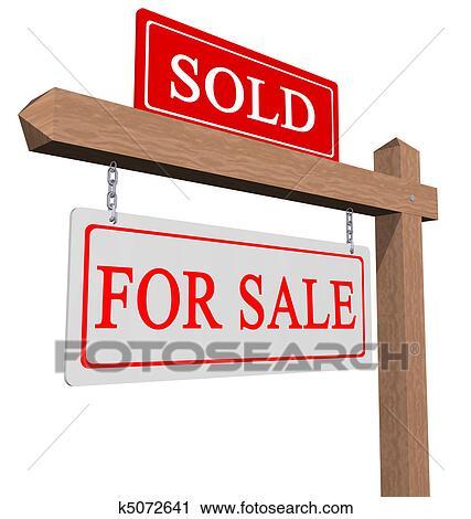 Sold sign Stock Illustration Images. 49,701 sold sign ...