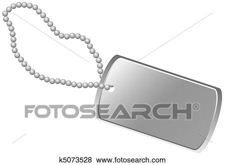 Clip Art of Dog Tag k5073528 - Search Clipart, Illustration ...