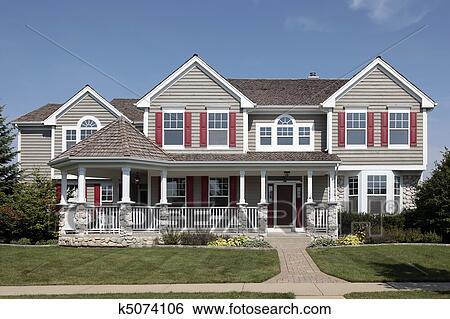 Archivio di immagini casa con portico anteriore for Disegni cottage portico anteriore
