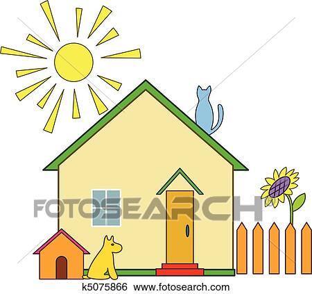 好看的房子儿童画_绘画分享