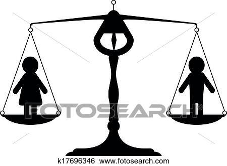 clip art of gender equality k17696346 search clipart illustration rh fotosearch com equality clipart png equality clipart png