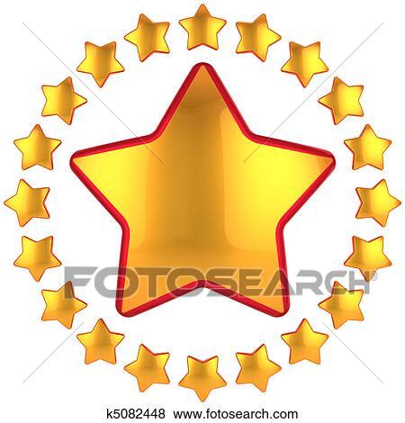 stock illustration of golden star award k5082448 search eps clip rh fotosearch com gold star award clipart gold star award clipart