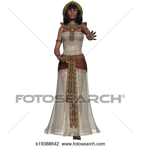 Egyptian Lady Drawing an Egyptian Lady With
