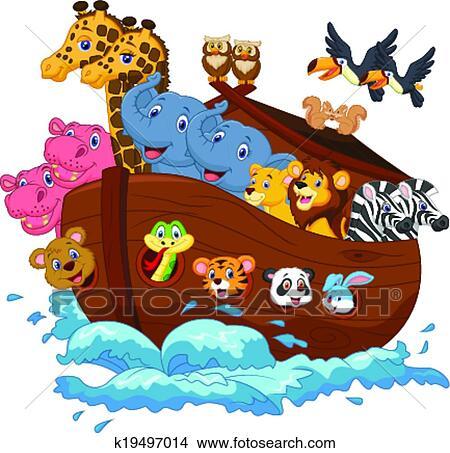 Clipart - arca noé, caricatura k19497014 - Buscar Clip Art ...