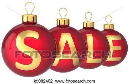 clip art verkauf weihnachten kugeln hi res k5082402. Black Bedroom Furniture Sets. Home Design Ideas
