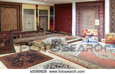 banque d 39 images arabe moquette magasin exposition color tapis k5089826 recherchez des. Black Bedroom Furniture Sets. Home Design Ideas