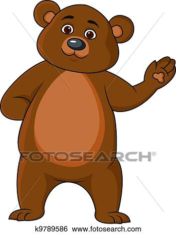 stock illustration of funny bear cartoon waving hand Native American Bear Claw Clip Art Claw Marks Clip Art