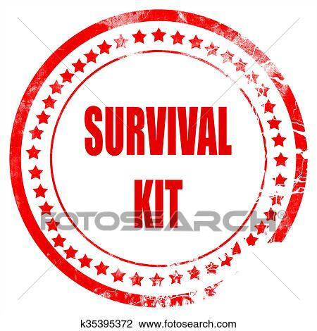 clip art of survival kit sign k35395372 search clipart rh fotosearch com clipart survival kit survival skills clipart