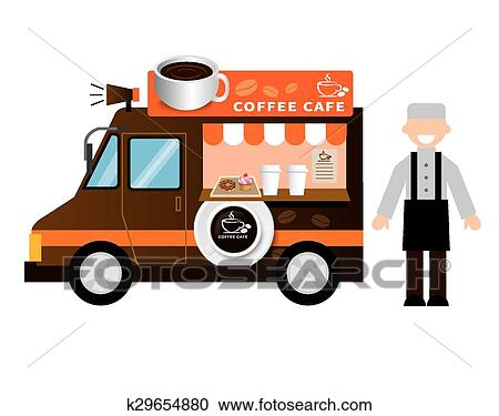 Clipart Of Food Truck Coffee K29654880