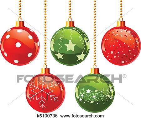 clip art farbe weihnachten kugeln k5100736 suche. Black Bedroom Furniture Sets. Home Design Ideas