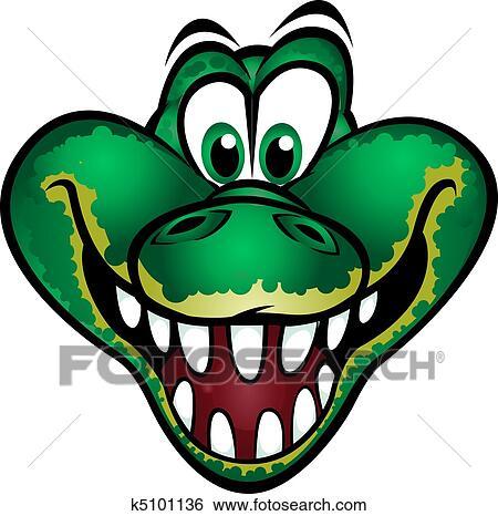 510k template - clipart mignon crocodile mascotte k5101136