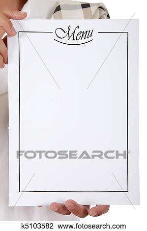 510k template - banque de photo menu liste chef cuistot mains