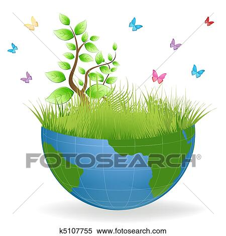 Clipart of green earth k5107755 search clip art for Environmental graphics giant world map wall mural