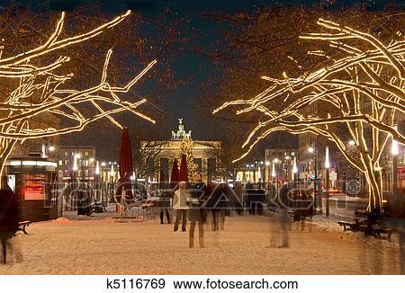 创意摄影图片库 - 柏林, brandenburger, tor, 圣诞节图片