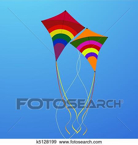 flying kite illustration - photo #9
