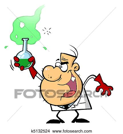 clipart of cartoon character mad scientist k5132524 search clip rh fotosearch com Science Lab Clip Art mad science clipart