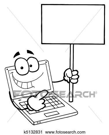 Büroarbeit clipart  laptop clipart schwarz weiß - Jaxstorm.realverse.us