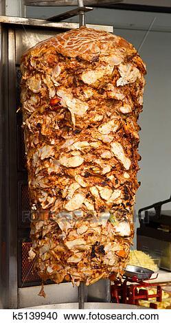 Banques de photographies poulet doner chiche kebab for Cuisinier kebab