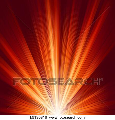 Clip Art Of Template With Burst Warm Color Light EPS 8 K5130816