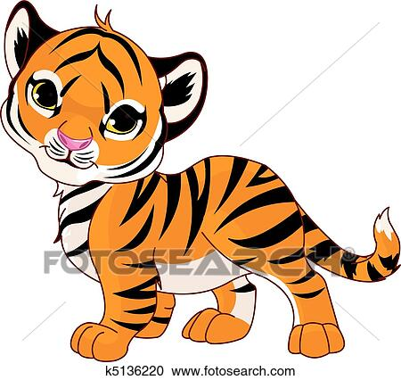 clipart of walking baby tiger k5136220 search clip art rh fotosearch com baby tiger clipart black and white baby white tiger clipart