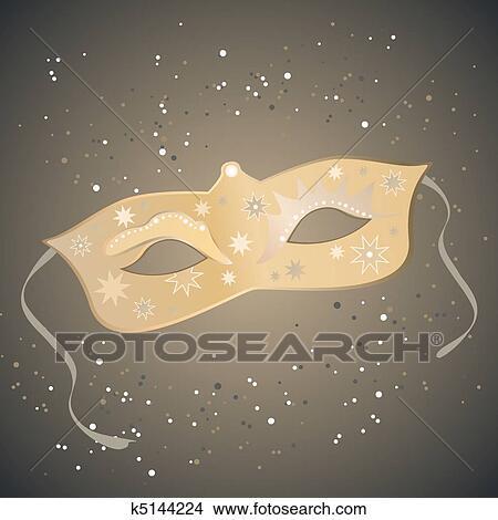 手绘图 - 威尼斯人面具