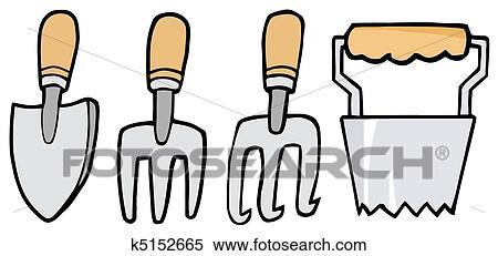 Clipart outils jardinage k5152665 recherchez des clip for Dessin outils jardinage