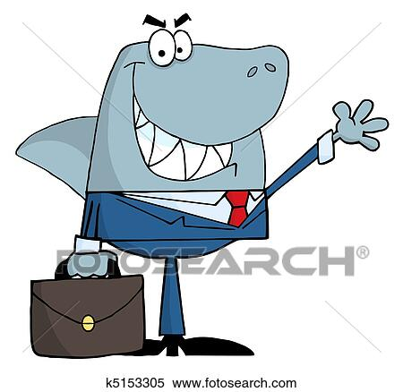 clipart of smiled business shark k5153305 search clip art rh fotosearch com clipart business cards clip art business writing