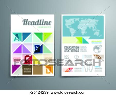 Line Art Poster Design : Stem education poster design with science equipments vector