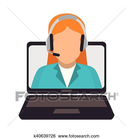 clip art of call center online support design k40639726 search rh fotosearch com call clipart black and white phone call clipart