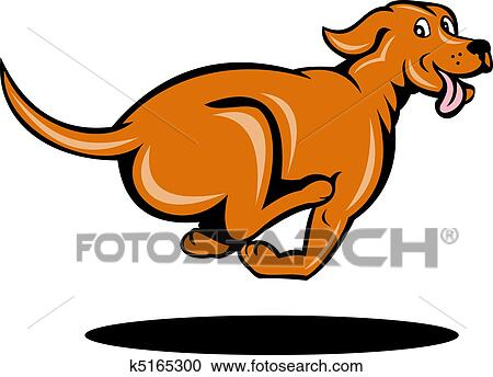 stock illustrations of dog running viewed from side k5165300 rh fotosearch com dog run clipart cartoon dog running clipart