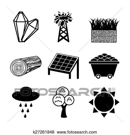 Clip Art Of Natural Resources K27261848 Search Clipart