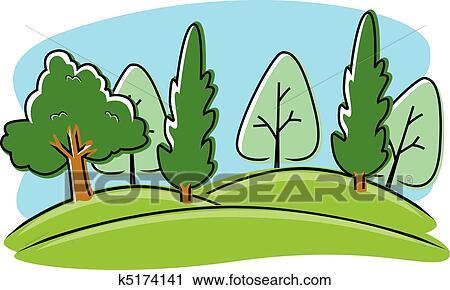 clipart of cartoon park k5174141 search clip art illustration rh fotosearch com park clipart picture park clipart png