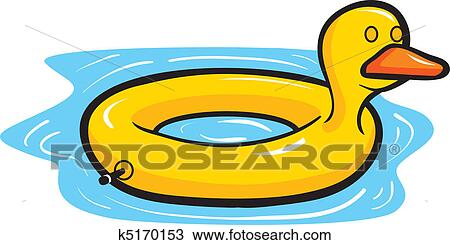 clipart of duck pool float k5170153 search clip art illustration rh fotosearch com clip art pool noodles clip art pool swimming