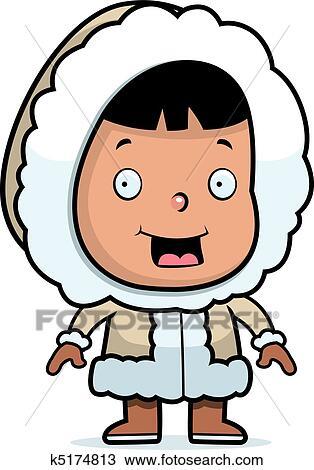 clipart of eskimo child k5174813 search clip art illustration rh fotosearch com eskimo clipart images eskimo clipart images