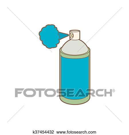 spray bottle clipart. clipart spray bottle with gas cloud icon cartoon style fotosearch search clip d