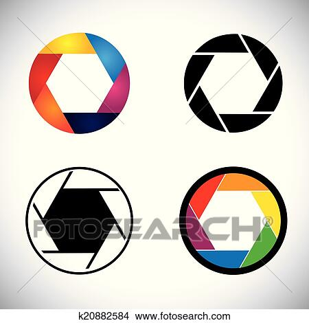 clipart of camera lens shutter aperture abstract icons vector rh fotosearch com camera shutter aperture vector camera aperture vector