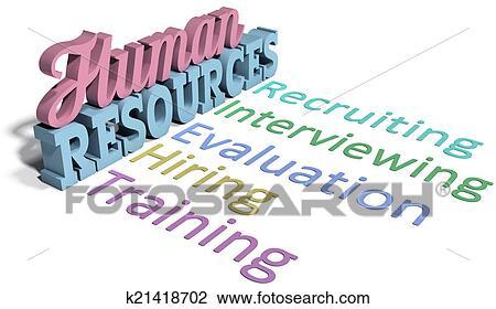 Clip Art of Human resources hiring management k21418702 ...