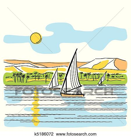 clipart of river nile in egypt k5186072 search clip art