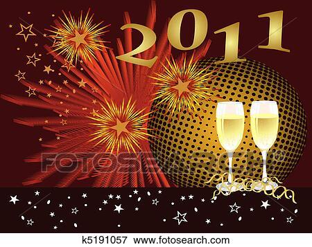 剪贴画 高兴的新年