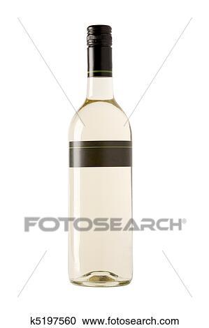banques de photographies vin blanc bouteille vide tiquette k5197560 recherchez des. Black Bedroom Furniture Sets. Home Design Ideas